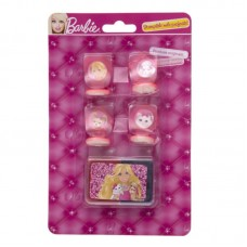 Set 4 stampile cu tusiera Barbie
