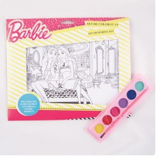 Kit de colorat A4 Barbie