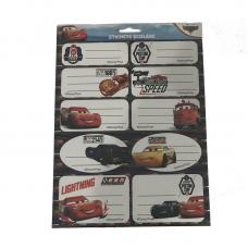 Etichete scolare 20 buc Cars