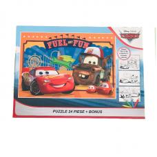 Puzzle 24 piese + Bonus Cars