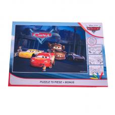 Puzzle 70 piese + Bonus Cars