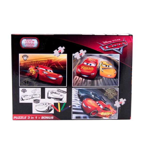 Puzzle 3in1 + Bonus Cars