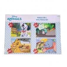 Puzzle 4 in 1 - Animale Disney