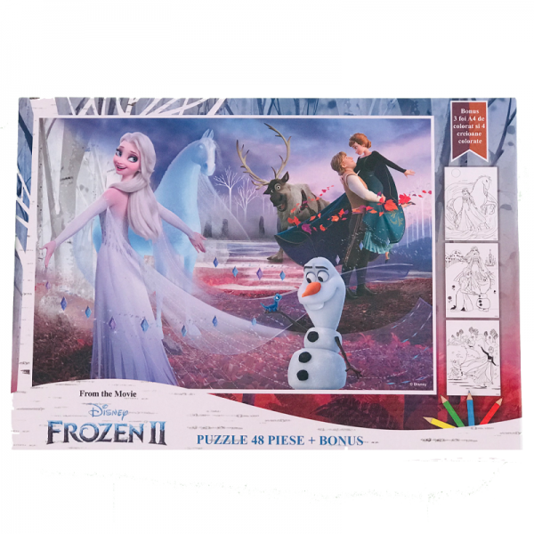 Puzzle 48 piese + Bonus Frozen