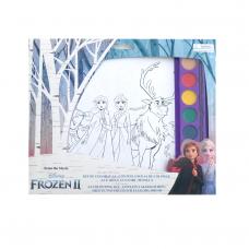 Kit de colorat A4 cu acuarele Frozen