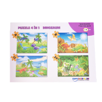 Puzzle 4 in 1 Dinozauri