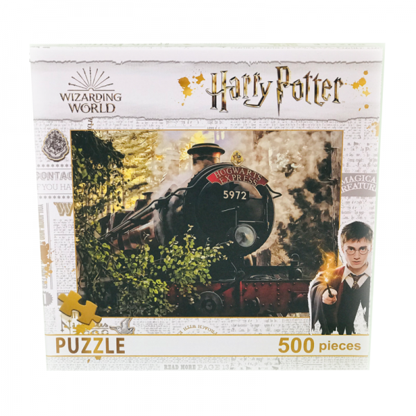 Puzzle 500 piese Harry Potter- Trenul Hogwarts Express - 48x34cm