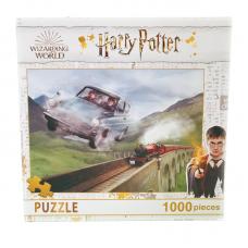 Puzzle 1000 piese Harry Potter- Masina zburatoare 48x73cm