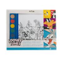 Kit de colorat A4 cu acuarele Looney Tunes