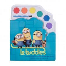 Caiet de colorat cu acuarele Minions