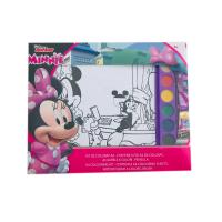 Kit de colorat A4 cu acuarele Minnie