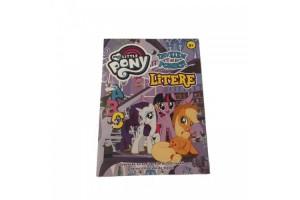 Carte de colorat cu litere si cuvinte My Little Pony
