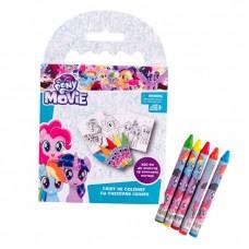 Caiet de colorat cu creioane cerate My Little Pony