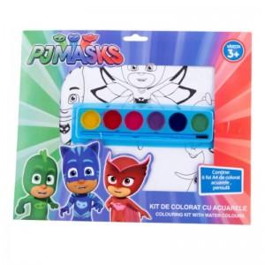 Kit de colorat A4 PJ Masks