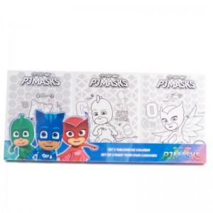 Set 3 tablouri de colorat PJ Masks
