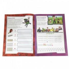 Carte de colorat cu cifre si exercitii Paw Patrol