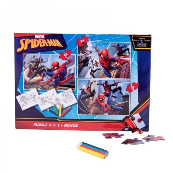 Puzzle 3in1 + Bonus Spider-Man