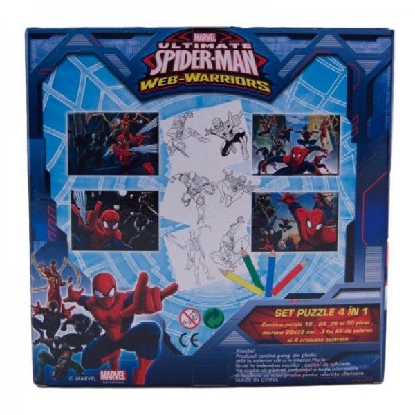 Puzzle 4 in 1 Spider-Man