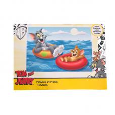 Puzzle 24 piese + Bonus Tom si Jerry