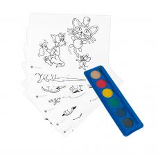 Kit de colorat A4 cu acuarele Tom&Jerry